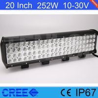 Light Sourcing 20 Inch Cree 252W LED Quad Rows Light Bar For...