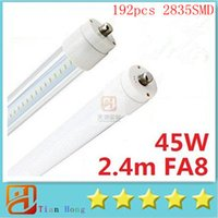 2015Single Pin 45W FA8 Led Tube Lights 2. 4m 2400mm 8ft 192pc...