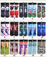 DHL 63 Design 3D Frozen Star Wars socks kids women men hip h...