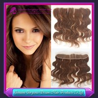 7A #4 Brown body waveLace Frontal Closure Brazilian Virgin H...