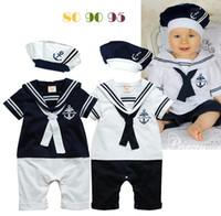 Retail Summer Newborn Navy Style Baby Boys Girls Rompers + H...