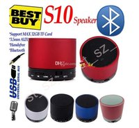 S10 Bluetooth Speakers Mini Wireless Aluminium Portable spea...