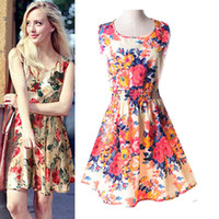 2016 Women Summer Dresses Clothes Sleeveless Plus Size Sexy ...