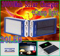 30000mah solar camping light charger 20 led 30000 mah power ...