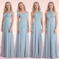 Multi-Wear Convertible платья невесты розовый и фиолетовый платье Vestidos де Феста выполненная на заказ невесты фрейлина платье в часть