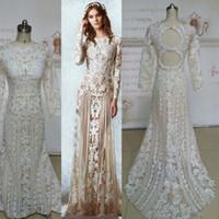 Real Image 2016 Zuhai Murd Wedding Dresses Long Sleeve Lace ...
