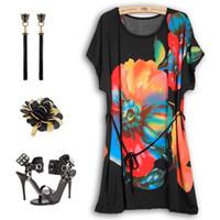 2016 Plus Size Women Summer Dress Skirts 3d Printed Vestidos...