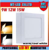 Square Dimmable 9W 15W 21W LED Surface Mounted Ceiling Panel...