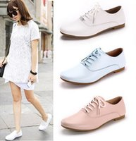 2015 Spring New Big Girls England Oxford Lace Up Casual Shoe...