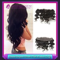 "Brazilian Virgin Hair Lace Frontal, 13x2"" Body Wave Lace..."