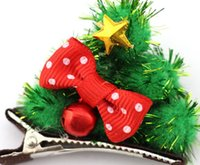 Sweet 2014 Chrismas Hair Clips Xmas Tree Sparking Clip Child...