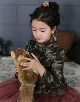 Big Size Korean Pure Cotton Girls Camouflage Long Sleeve Out...
