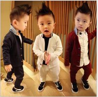 Boy Gentleman Solid Outfits 2015 Autumn Boys Suits British S...