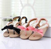 Summer New 2015 Girls Princess Sandals with Bowknot Kids San...