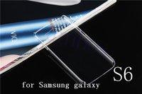 2015 Nuevo producto duro cristalino claro plástico Volver Funda para el Samsung Galaxy S6 móvil teléfono Android