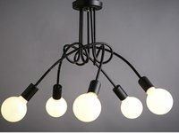 Freeshipping Simple Creative Black & white E27 ceiling lamp ...