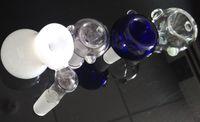 gros verre verre joint ongles en verre bol dôme en verre 14.4mm 18.8mm bleu clair vert 18mm 14mm pour le verre bong livraison gratuite