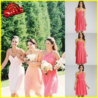 2015 Mix Match Short Coral Bridesmaid Dresses Cheap Under 10...