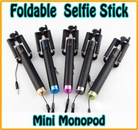 Extendable Wired Selfie Stick Foldable All- in- One mini Monop...