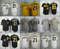 Pittsburgh Pirates #21 Roberto Clemente Cheap Wholesales Bas...