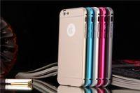 iPhone 6 6+ Case Aluminum Metal Bumper Frame PC Back Cover S...