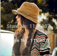 2014 New Summer Woman Sun Hats Beach Hats Big Brim Plait Hat...