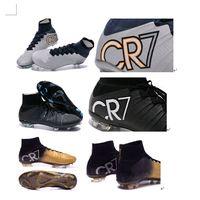Ronaldo Black Gold Silver Black CR7 Cleat Football Shoes 201...