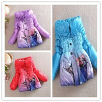 EMS FREE Frozen Elsa Anna Winter Girls Thicken Wollen Long C...