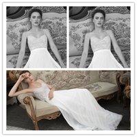 2015 Beach Wedding Dresses with Spaghetti Strap Simple Elega...