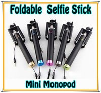 Foldable Wired Monopod Extendable All- in- One mini Selfie Sti...