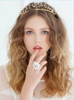 Shimmering Beaded Bridal Crown Tiaras Fashion Jewelry Bridal...