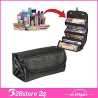 Makeup Cosmetic Bag Travel Pouch 4Zippered Compartment Toile...