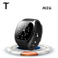 Водонепроницаемый SmartWatch M26 Bluetooth Смарт часы с LED Alitmeter музыкальный плеер Шагомер для Apple IOS Android смартфон