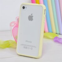 Hybrid Matte Hard PC+ soft TPU Cover Cases For Iphone 4 4s 5...