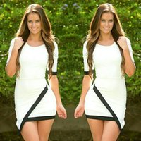 Sexy Women Fashion Summer White Dress Middle Sleeves Prom Ba...