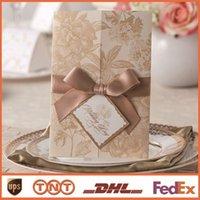 Blank pages gold wedding invitations wedding invitation flor...