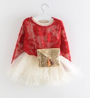 Baby Girls Dresses 2015 Spring Tulle Ruffle Pearls Bubble Dr...