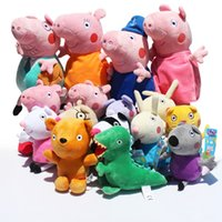 New Pink Pig Family & pink Pig' s Friends Plush Doll Toy...
