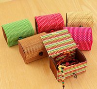 Vintage Storage Boxes Home Desk Decoration Bamboo Wooden Cas...