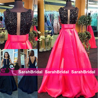 2016 Navy Blue Long Prom Ball Gowns Princess Jewel Neckline ...