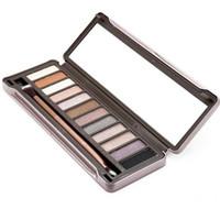Горячие продажи Nude 123 глаза палитра теней для макияжа 12 цветов палитра теней для век 1 + 2 + 3 все с кистью 3шт / много Бесплатная доставка высокого качества