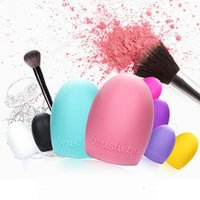 8 Colors Brushegg Cleaning Makeup Washing Brush Silica Glove...