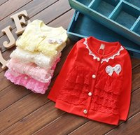 Flash Long Sleeve 2016 Children Baby Girls Lace Cardigan But...