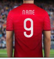 2015- 16 Season Thai Quality Portugal 15- 16 Custom Soccer Jer...