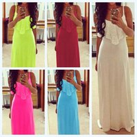 2015 Summer Dress for Women With Lace Tassel Chest Maxi Long...