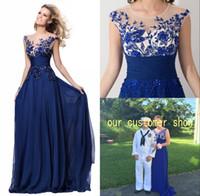 2016 Ready to Ship Lace Chiffon Prom Dresses Long 2015 Crew ...