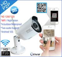 2016 Новая IP-камера беспроводная система безопасности 720p WiFi открытый видеонаблюдения захвата HD ONVIF камер видеонаблюдения Инфракрасный