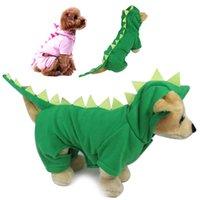MOQ: 10pcs lot Cute Dinosaur Dog Jumpsuit Puppy Winter Clothe...