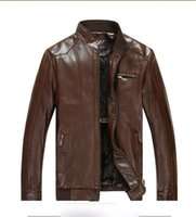 2015New Warm Thicken Leather Jackets for men European Coat F...