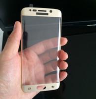 Pour Samsung Galaxy S6 S7 Bord plus courbé en verre trempé Colorful avant Full Color LCD 3D 9H HD haut de gamme Protecteur d'écran Curve